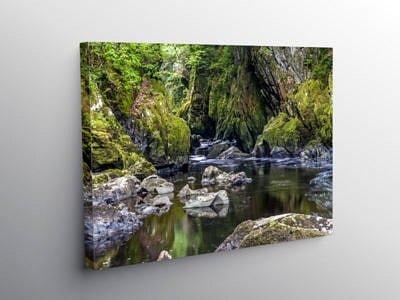 Fairy Glen near Betws y Coed, Canvas Print