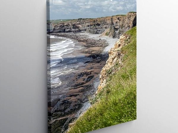 Glamorgan Heritage Coast Path above Nash Point, Canvas Print