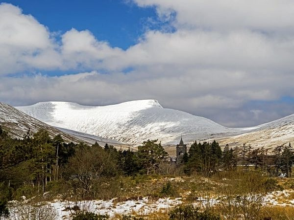 Pen y Fan from Neuadd in Winter