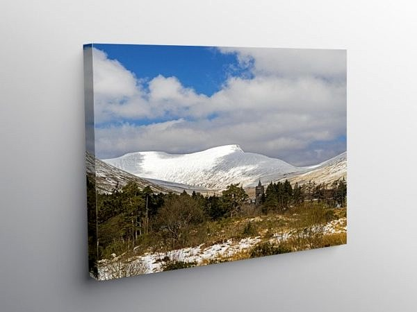 Pen y Fan from Neuadd in Winter Brecon Beacons, Canvas Print