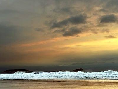 Rhossili Beach on a blustery March evening