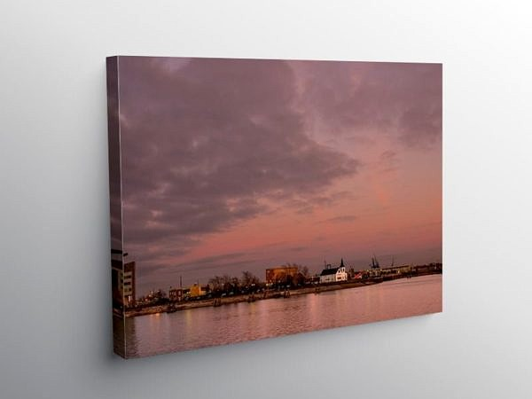 Cardiff Bay Evening Winter Sun South Wales, Canvas Print