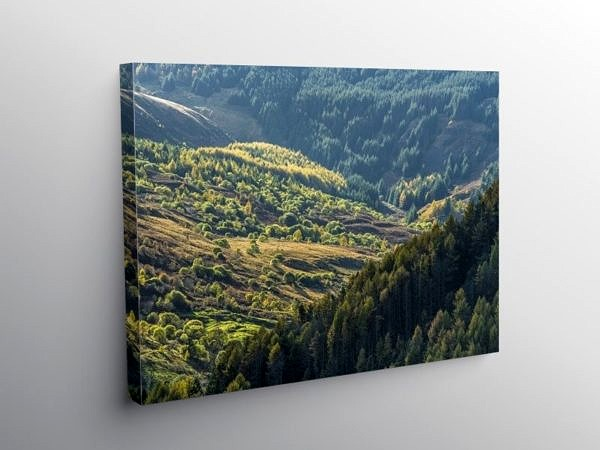 Upper Blaencwm Valley in the Rhondda Fawr, Canvas Print