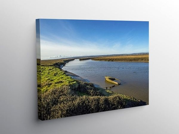 Penclawdd Daltons Point Gower, Canvas Print