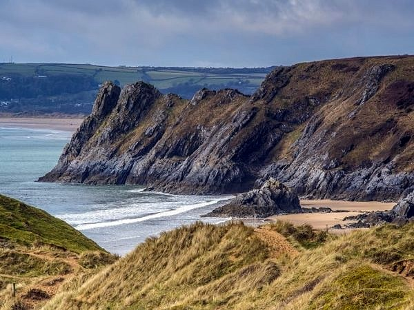 Great Tor overlooking Three Cliffs Bay Gower