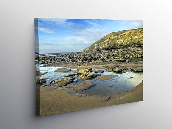 Dunraven Bay on the Glamorgan Heritage Coast, Canvas Print