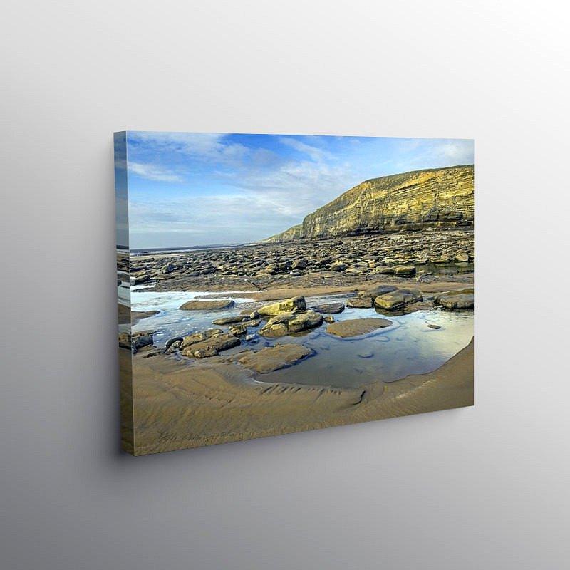 Dunraven Bay on the Glamorgan Heritage Coast, Canvas Print