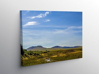The Black Mountain Carmarthenshire South Wales, Canvas Print