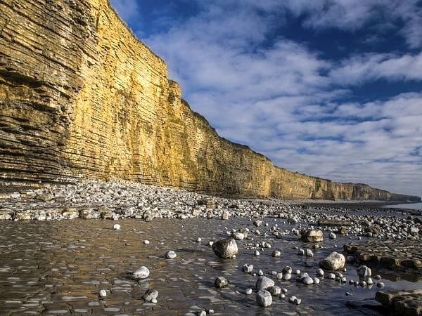 Cliffs at Llantwit Major Beach Glamorgan Heritage Coast