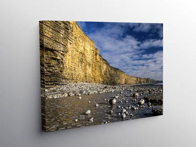Cliffs at Llantwit Major Beach Glamorgan Heritage Coast, Canvas Print