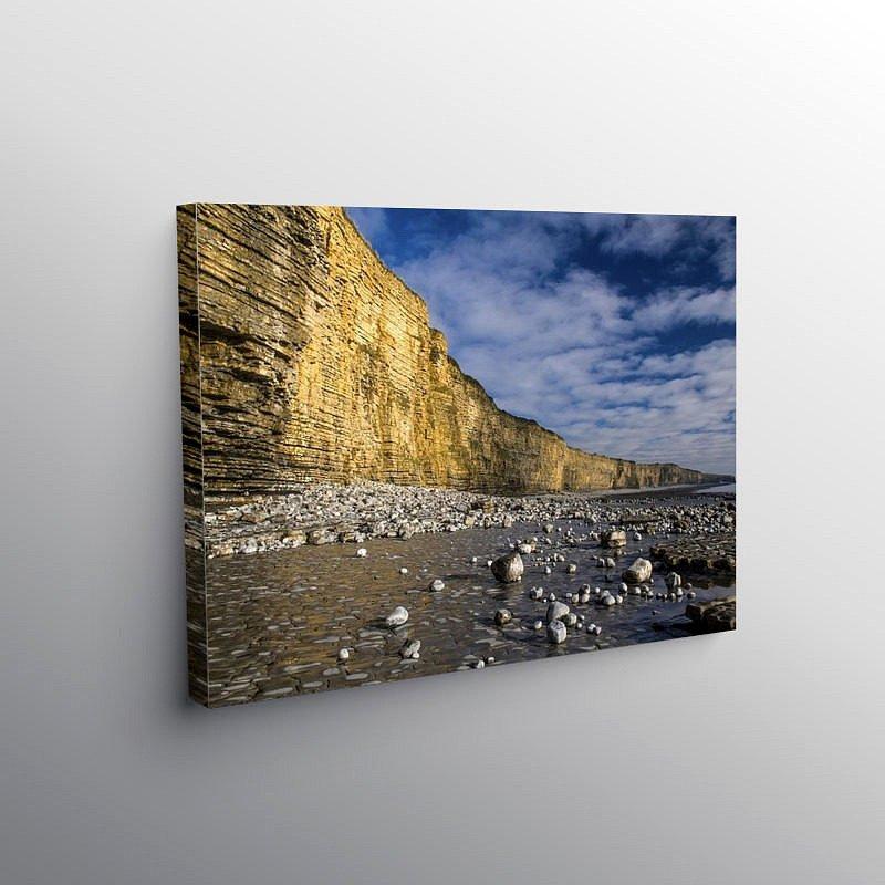 Cliffs at Llantwit Major Beach Glamorgan Heritage Coast, Canvas Print