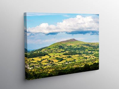 The Sugarloaf In the Black Mountains, Canvas Print