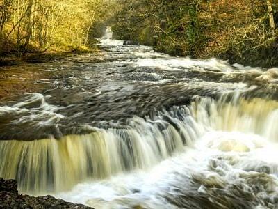 The Horseshoe Falls on the River Neath