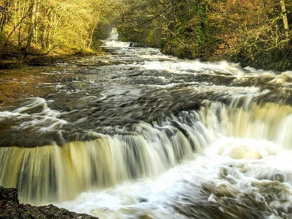 The Horseshoe Falls on the River Neath