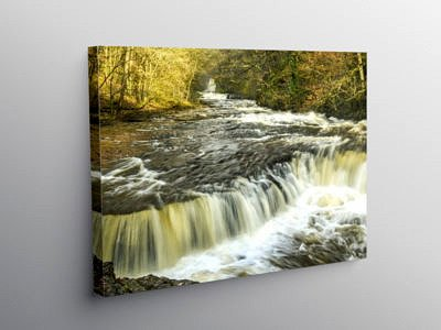 The Horseshoe Falls on the River Neath, Canvas Print