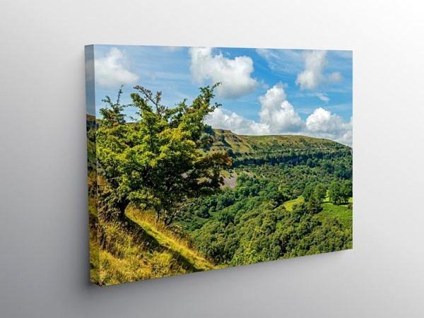 Llangattock Escarpment Brecon Beacons, Canvas Print