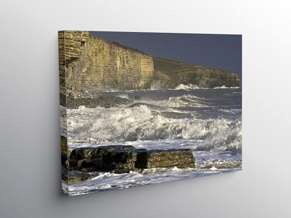 Storm on Llantwit Major Beach, Canvas Print