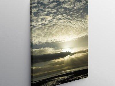 Sunbeams over The Bristol Channel, Canvas Print