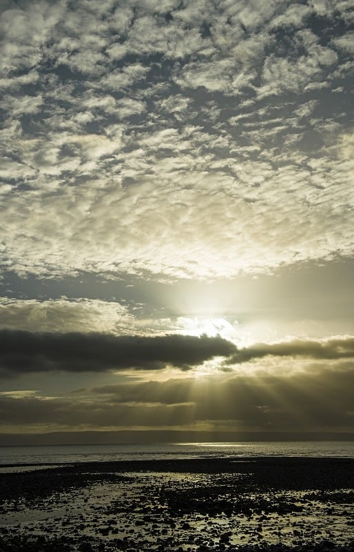 Sunbeams over The Bristol Channel