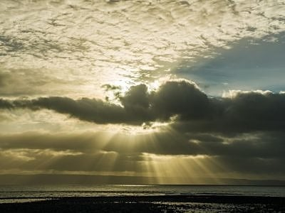 Sunbeams over Llantwit Major Beach
