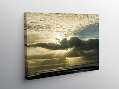 Sunbeams over Llantwit Major Beach, Canvas Print