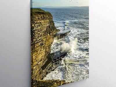 Waves at Nash Point Glamorgan Heritage Coast, Canvas Print