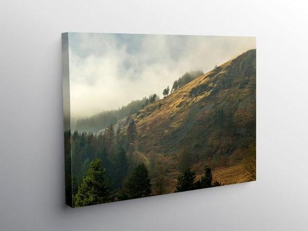 The Hills above Blaencwm Rhondda Fawr, Canvas Print