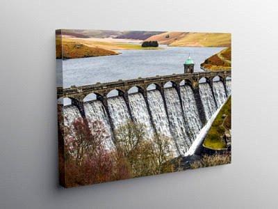 Craig Goch Dam in the Elan Valley, Canvas Print