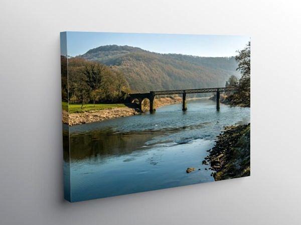 The Old Railway Bridge at Tintern Wye Valley, Canvas Print