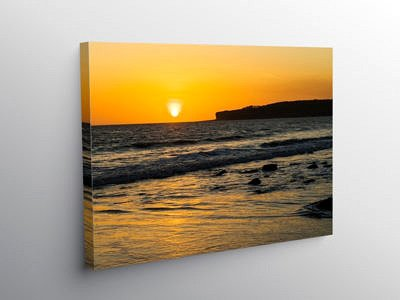Sunset from Llantwit Major Beach, Canvas Print