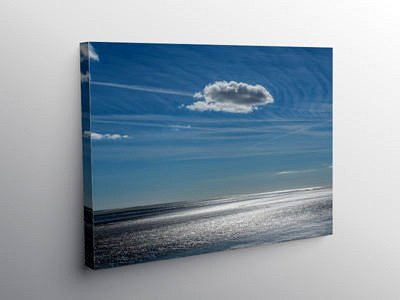 Llansteffan Beach Carmarthenshire, Canvas Print