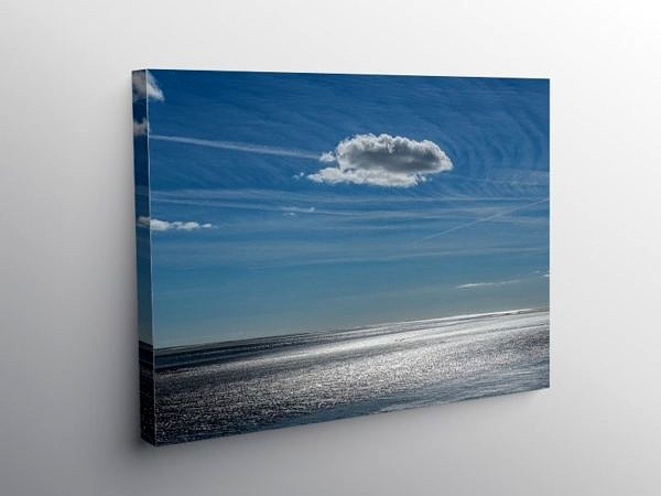 Llansteffan Beach Carmarthenshire, Canvas Print