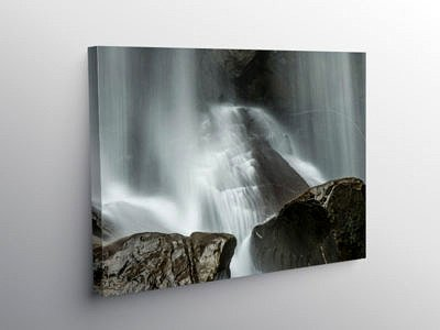 Melincourt Waterfall Close Up Vale of Neath, Canvas Print