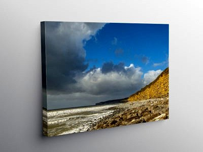 Llantwit Major Beach Looking West, Canvas Print