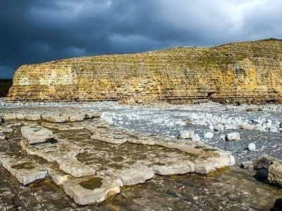 Llantwit Major Cliffs and Dark Clouds