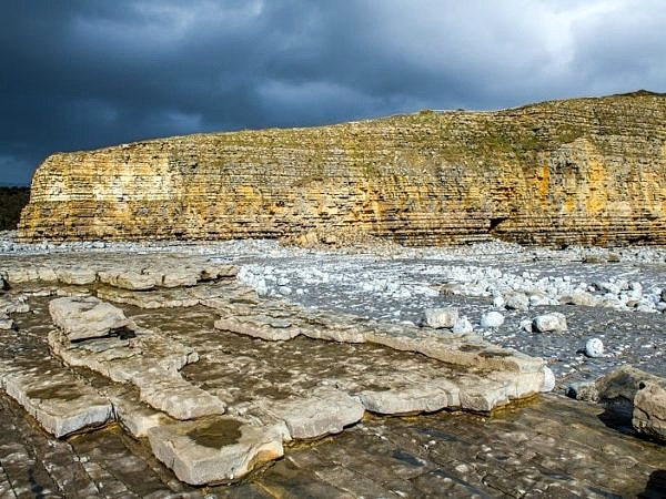 Llantwit Major Cliffs and Dark Clouds