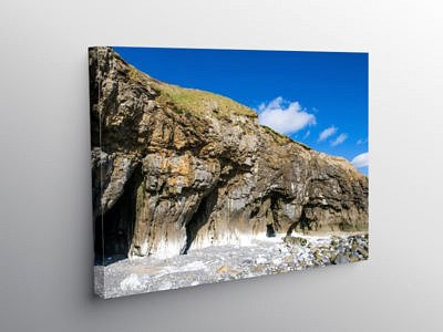 Pendine Sands Caves Carmarthensire Coast, Canvas Print
