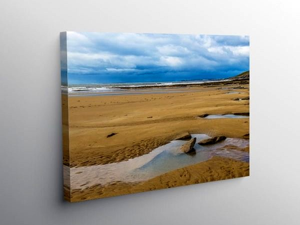 Dunraven Bay moody weather day Glamorgan Heritage Coast, Canvas Print
