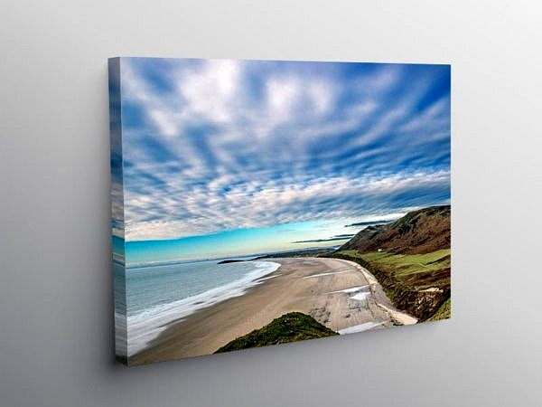 Rhossili Beach Gower South Wales, Canvas Print