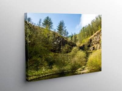 Top end of Clydach Vale Rhondda South Wales, Canvas Print