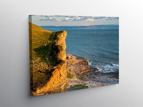 Cwm Nash Beach Glamorgan Heritage Coast, Canvas Print
