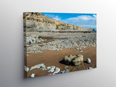 Cwm Nash Beach Glamorgan Heritage Coast, Canvas Print