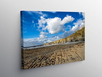 Cliffs at Nash Point Glamorgan Heritage Coast, Canvas Print