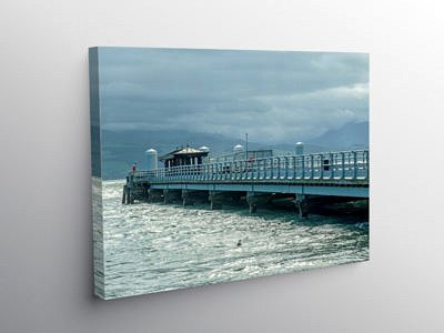 Beaumaris Pier on the Anglesey coast, Canvas Print