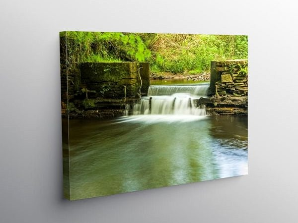 Water Cascade Lliw Valley Swansea, Canvas Print