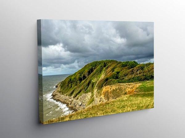 Trwyn y Witch Dunraven Bay Glamorgan Heritage Coast, Canvas Print