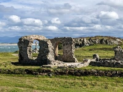 Church Ruins on Llanddwyn Island Anglesey