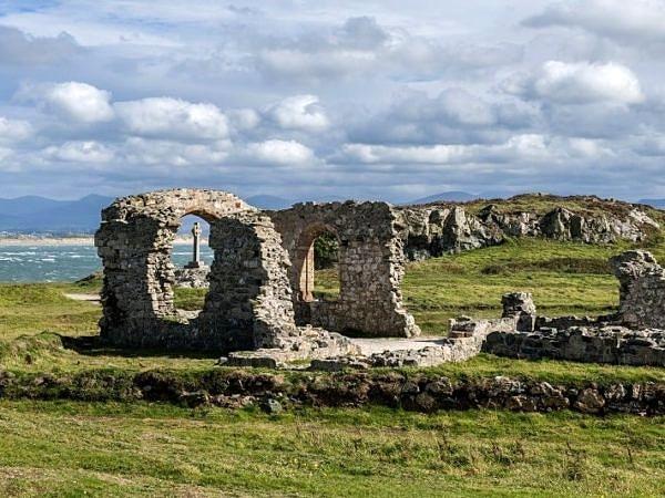 Church Ruins on Llanddwyn Island Anglesey