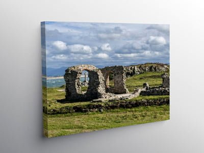 Church Ruins on Llanddwyn Island Anglesey, Canvas Print