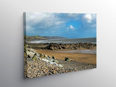 Wiseman's Bridge South Pembrokeshire Coast, Canvas Print